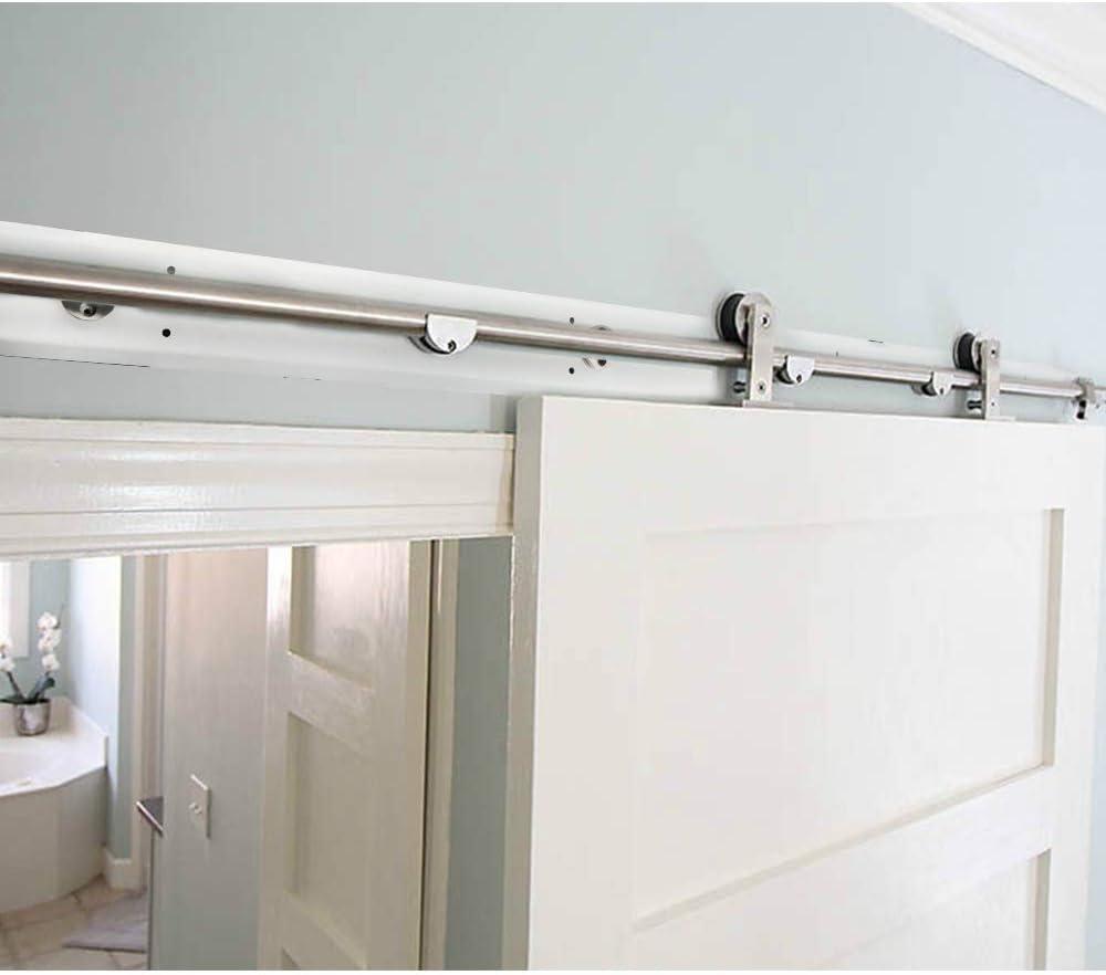Kit de herramientas para puerta corredera de acero inoxidable preinstalado de dos direcciones con tablero de cartón de borde.: Amazon.es: Bricolaje y herramientas