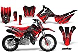 Honda CRF110 F Motocross Graphic Kit - (2013) - Nuke: Red - Silver - AMR Racing