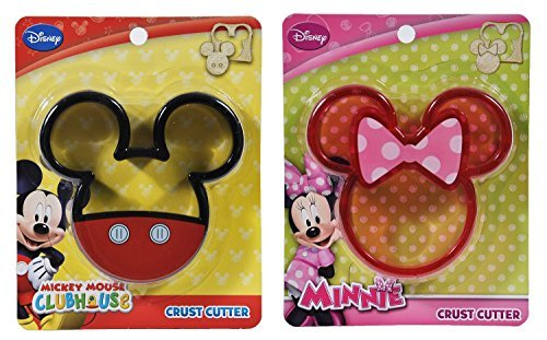 Disney Mickey & Minnie Mouse Crust Cutter 2 (Minnie Mouse Sandwich Cutter)