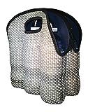 6 pack cooler neoprene - Koverz - #1 Neoprene Insulated 6-Pack Carrier, Beer Bottle Carrier, Six-Pack Tote - Carbon Fiber