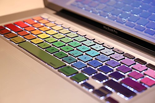 Crocodil Graphics - Rainbow Keyboard Stickers for MacBook Pr