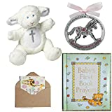 Catholic Baby Baptism Christening Or Baby Shower Gift Set-4 Items Blue (Pink)