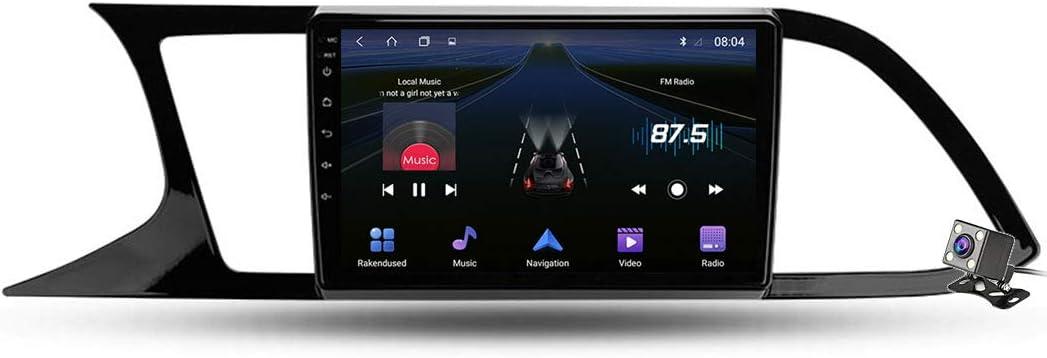 Gokiu Android 9 1 Car Radio Player Gps Navigation Für Seat Leon 3 2012 2020 Mit 9 Zoll Touchscreen Unterstützt Stereo Mp5 Player Mirrorlink Multimedia Bluetooth 4 Core Wifi 1 16gb Sport Freizeit