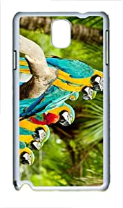 case stylish parrots on branch PC White case/cover for Samsung Galaxy Note 3 N9000