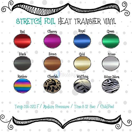 Stretchable Metallic & FOIL Heat Transfer Vinyl 20