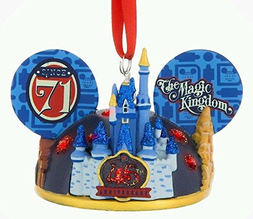 Disney Parks Walt Disney World Magic Kingdom 45th Anniversary Ear Hat Ornament Since 1971 ()