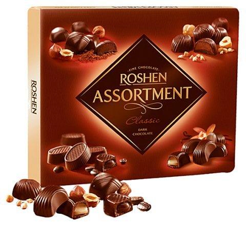 Roshen Dark Chocolate Assortment Classic Russian Chocolates Candy from Ukraine 154 grams