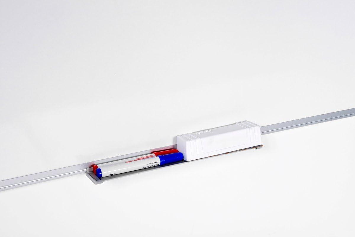 Bi-Office 288688 para rotuladores 100 x 150 cm Pizarra de acero vitrificado con bandeja color blanco