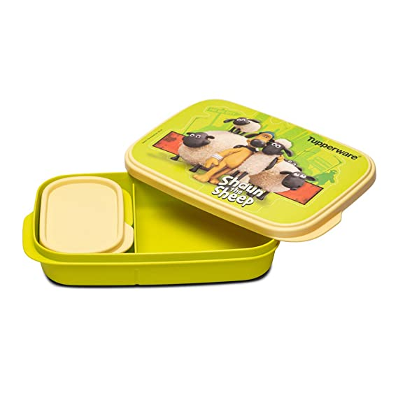 Tupperware Sheep Plastic Kids Lunch Box , 590 ml