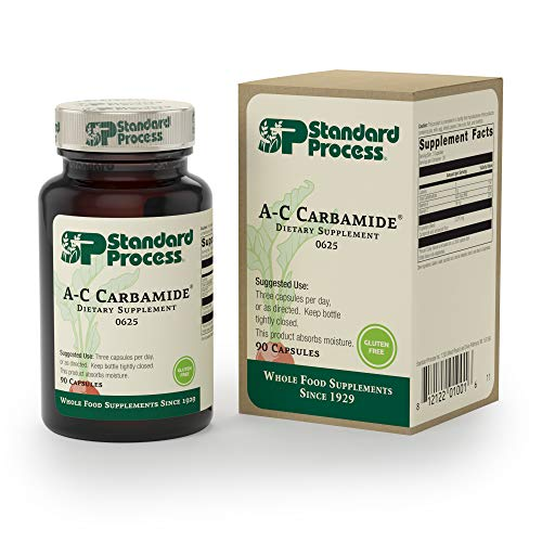 Standard Process - A-C Carbamide - 450 mcg Vitamin A, 18mg Vitamin C, Gluten Free Supplement, Supports Healthy Urinary System, Fluid Transfer and Levels - 90 Capsules