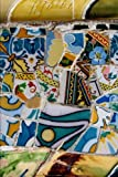 A View of Park Guell Antonio Gaudi Colorful Mosaics in Barcelona Spain Journal: 150 Page Lined Notebook/Diary