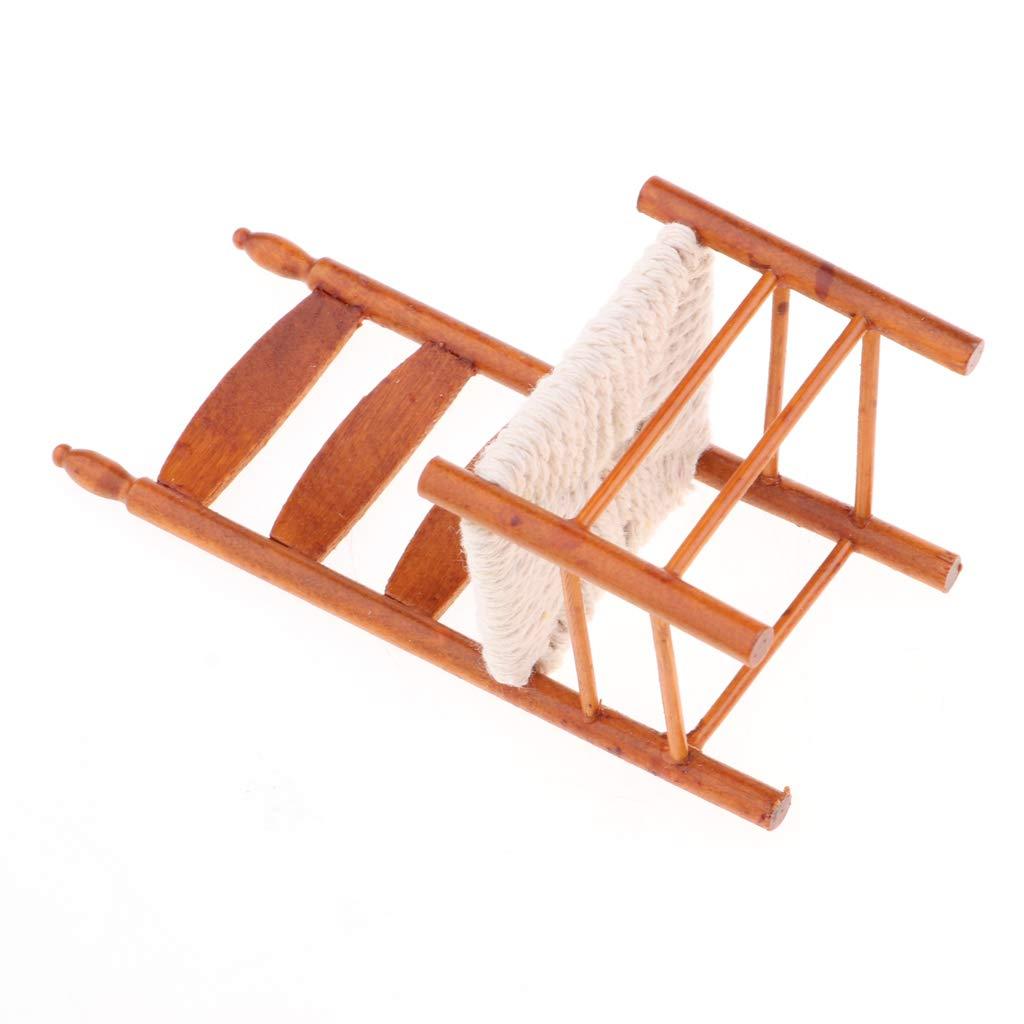 KESOTO 1//12 Casa de Mu/ñecas Miniaturas Muebles Mini Silla de Madera Modelo Madera