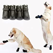DOG BOOTS Waterproof Anti-Slip PU Pet Shoes Booties Winter Fur Warm Dog Shoes for Small to Big Dog Go4direction