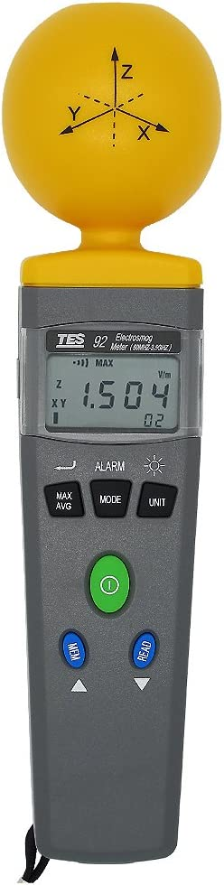 High frequency 50MHz to 3.5GHz TES 92 ElectroSmog Meter