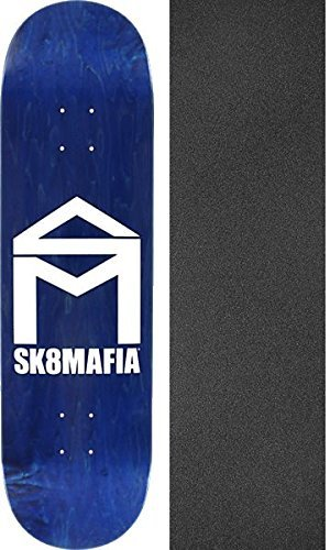 構造真空レオナルドダsk8mafia Skateboards家ロゴStainedアソートカラースケートボードデッキ – 8.6