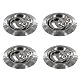 marine d rings - (4 pack) Stainless Steel Flush Mount D-Rings 800 lbs