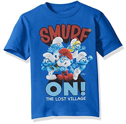 Smurfs Big Boys' The Lost Village Short Sleeve Graphic T-Shirt, Navy, 10/12