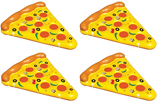 (4-Pack Of Swimline Giant Inflatable Pizza Slice Float Rafts | 4 x 90645)