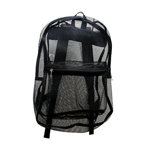 17 Inch Bulk Black Mesh Backpacks - Wholesale Case of 24 Sport Bookbags