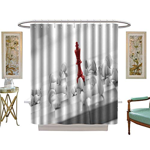 Elvis Presley Chess Set - luvoluxhome Shower Curtains with Shower Hooks Chess Concept Leader Success Bathroom Set with Hooks W72 x L96