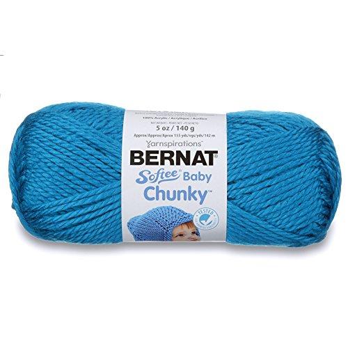 Bernat Softee Baby Chunky Yarn, Solid, 5 oz, Gauge 5 Bulky Chunky, Blue Lagoon