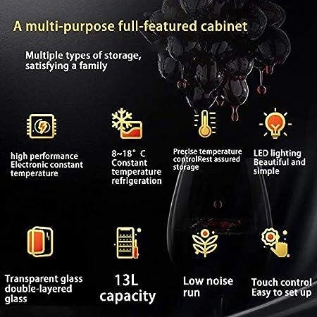 Enfriador de Vino Multifuncional, Enfriador de Vino termoeléctrico avanzado, refrigerador Independiente con Funcionamiento silencioso