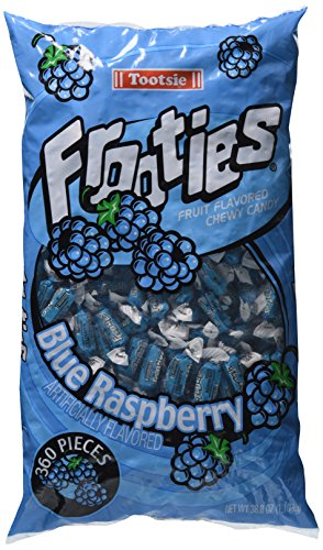 Tootsie Frooties - Blue Raspberry, 38.8 oz bag (360 count)]()
