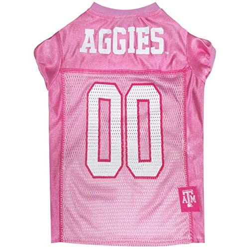 1c04d215 Pets First Collegiate Texas A and M Aggies Dog Jersey, Large, Pink ...
