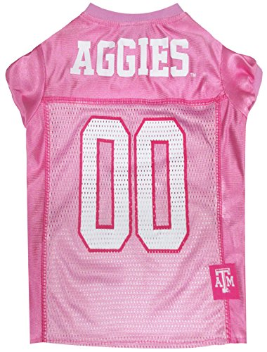 - NCAA Texas A & M Aggies Dog Pink Jersey, X-Small. - Pet Pink Outfit.