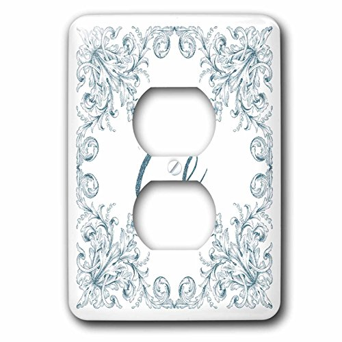 3dRose Uta Naumann Personal Monogram Initials - Letter G Personal Luxury Vintage Glitter Monogram-Personalized Initial - Light Switch Covers - 2 plug outlet cover (lsp_275306_6) by 3dRose