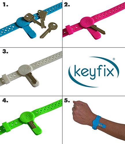 """Fitness Bands You Can Swim With: Keyfix Running Key Holder """"XL"""", Fitness Activity Wristband"""