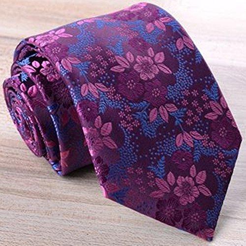 Joker Men's Hunting Decorative Suit Clip Suit Pattern Yamyannie Classic piece Decorative Purple Set Of Tie Tie Floral Set Bow Ground Tie Six Wedding Tie qq0Ow8S
