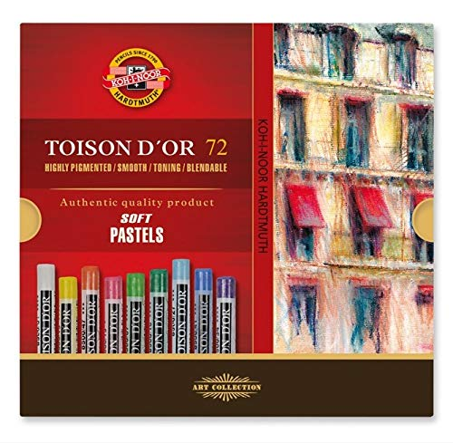 Koh-I-Noor TOISON D'OR Soft Pastels, 72 Assorted Stick Set by KOH-I-NOOR