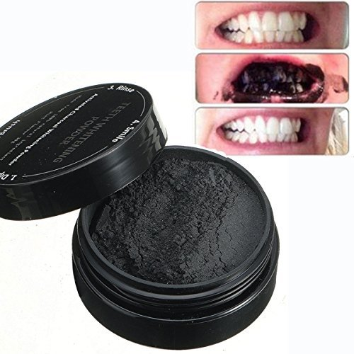 MEJOY Teeth Whitening Powder Black Activated Charcoal Teeth