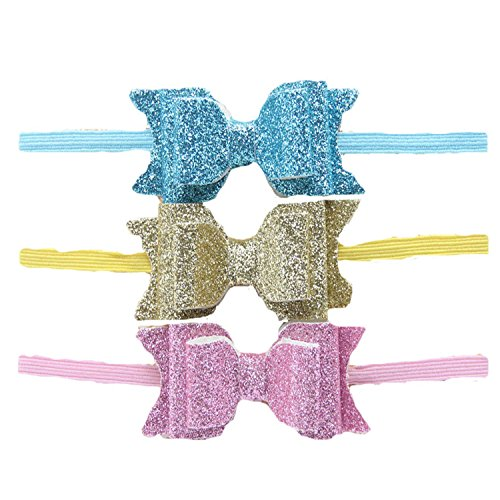 Century Star Baby Girls Glitter Bow Hair Accessories Hairband Headband 3.7