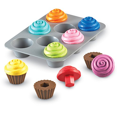 Learning Resources Smart Snacks Shape Sorting Cupcakes, Early Recognition, Fine Motor Toy, Ages 2+ (Vegan Play Food)