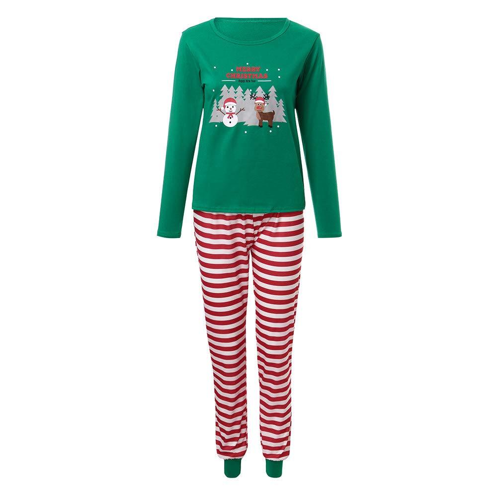Theshy Men Mendy Stripe Santa Tops Blouse Pants Family Pajamas Sleepwear Christmas Set