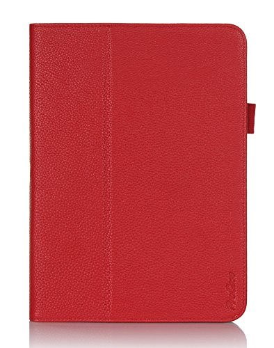 ProCase Samsung Galaxy Tab 4 10.1 Tablet Case - Bi-Fold Stand Cover Case for 10 inch Galaxy Tab 4 (2014 released), also compatible with Galaxy Tab 3 10.1 (Red)