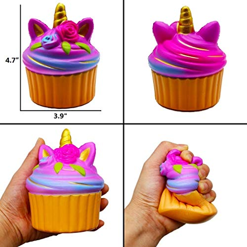 YOAUSHY 6 Pack Squishies Toys Set Slow Rising Jumbo Unicorn Cake Donut Cat Squishy for Kids Christma - http://coolthings.us