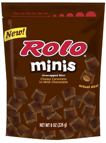 Rolo Minis Chewy Caramels In Milk Chocolate, 8.5-Ounce Bag (Pack Of 4)