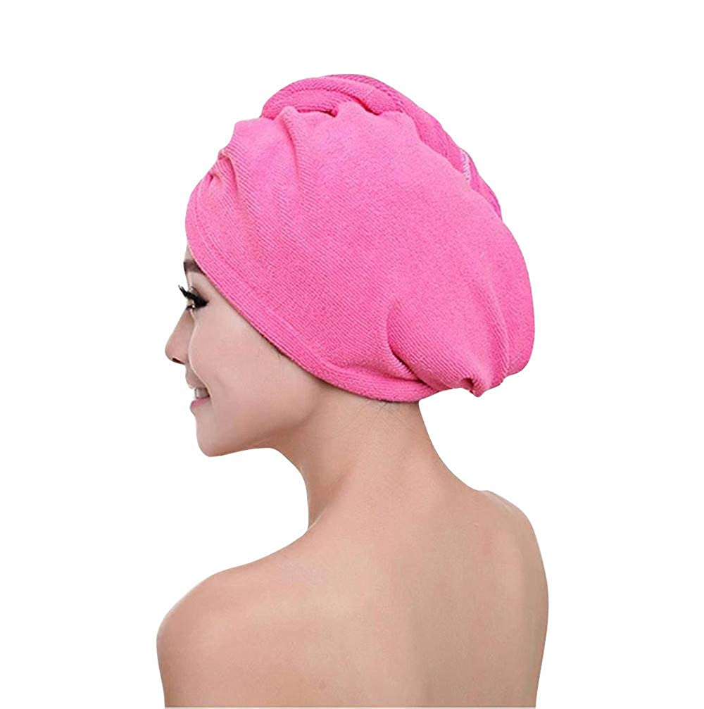 NEW QUICK DRY MAGIC HAIR TURBAN TOWEL MICROFIBRE HAIR WRAP BATH TOWEL CAP HAT UK