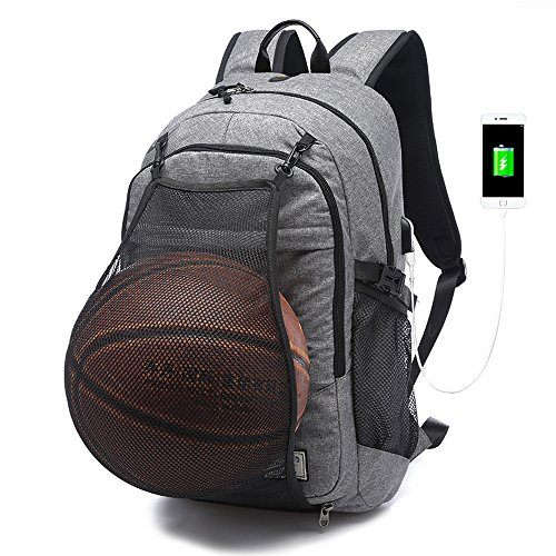 Slim Backpack with USB Charging Port fit 15.6
