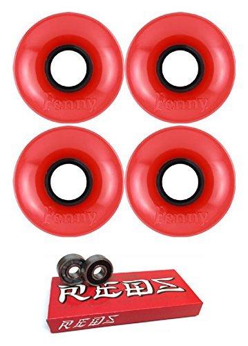 数学的な鎮静剤にぎやか59 mm Penny SkateboardsスケートボードWheels with Bones Bearings – 8 mmスケートボードベアリングBones Super Redsスケート定格 – 2アイテムのバンドル