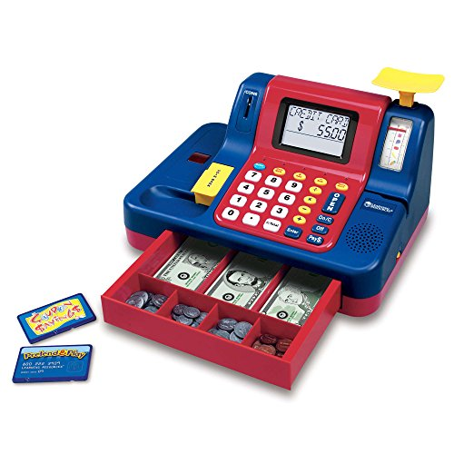 51g6owIFn8L - Learning Resources Pretend & Play Teaching Cash Register [Standard Packaging]