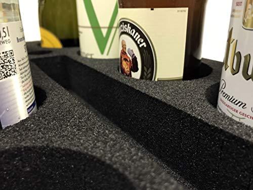 51g6oyTbJhL SCHAUMEX® Flaschenhalter aus Schaumstoff – Platz für 6 Flaschen/Getränke – Spezialschaumstoff für Camping Wohnwagen…