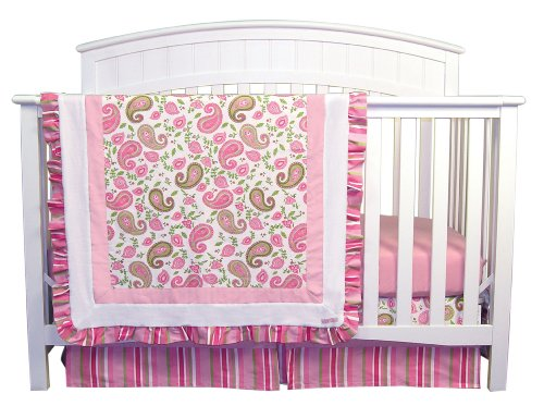 Pique Crib Bedding Set (Trend Lab Paisley Park 3 Piece Crib Bedding Set)
