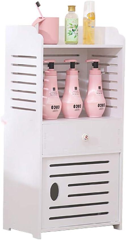 Shelf Unit, Waterproof Bathroom Cabinets, Furniture for Living Room Bedroom, Kitchen Hallway,White Bathroom Storage Shelf Organizer