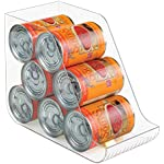 'mDesign Canned Food Storage Organizer for Kitchen Pantry, Cabinet - Clear' from the web at 'https://images-na.ssl-images-amazon.com/images/I/51g6pFffwoL._AC_SR150,150_.jpg'