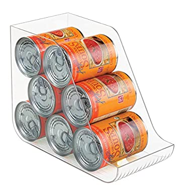 mDesign Canned Food Storage and Soda Organizer for Kitchen Pantry or Cabinet - Clear