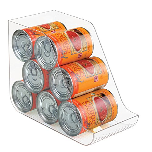 mDesign Canned Food Storage Organizer for Kitchen Pantry, Cabinet - Clear (Canned Food Storage Rack)